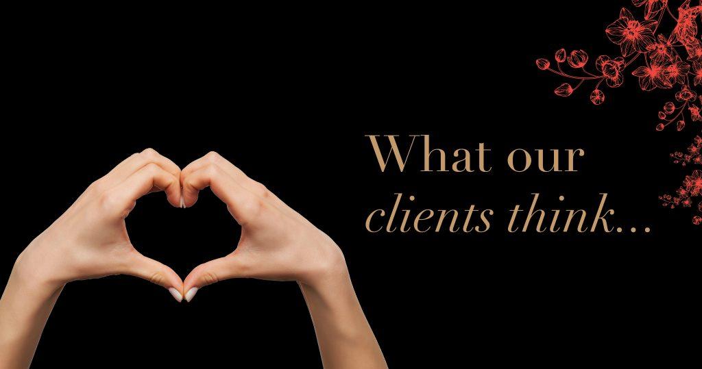 Dreamers Beauty Clinic Website Banner Testimonials